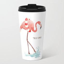 Flamingo - Hello Summer Travel Mug