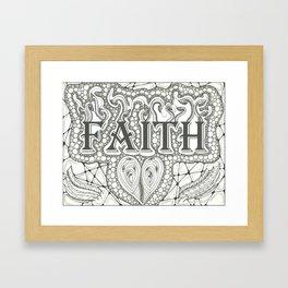 Faith Black and White Framed Art Print