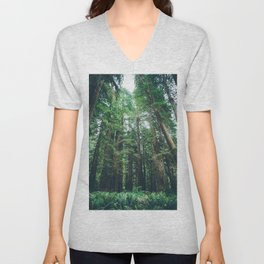 Redwood Forest  Unisex V-Neck