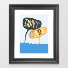 Sea Don't Care Framed Art Print