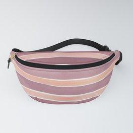 Wide Watercolor Stripe in Purple Fanny Pack