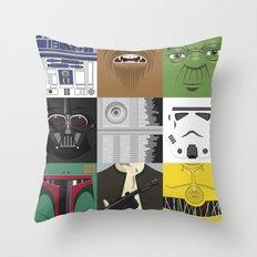Starwars combo Throw Pillow