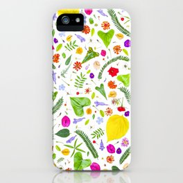 Leaves and flowers (9) iPhone Case