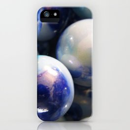 Blue Marbles iPhone Case