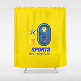 Sports Walk Man Shower Curtain