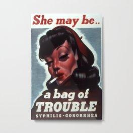 Vintage poster - STDs Metal Print