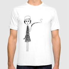 Her new cloche hat SMALL White Mens Fitted Tee