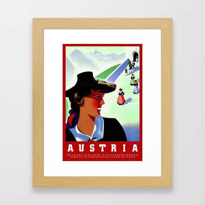 Vintage Austria Travel Framed Art Print