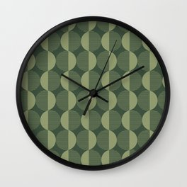 Abstract Circles pattern green  Wall Clock