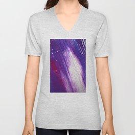 Good Night product design purple Unisex V-Neck