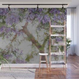 Purple Flowers Dream Wall Mural
