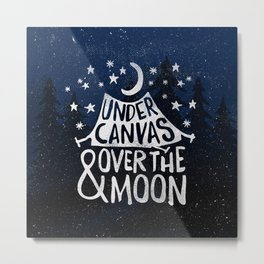 Under Canvas Metal Print