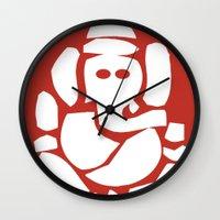 hindu Wall Clocks featuring Ganesh - Hindu God by ialbert