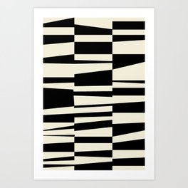 BW Oddities II - Black and White Mid Century Modern Geometric Abstract Art Print