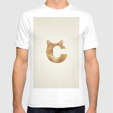C. Mens Fitted Tee MEDIUM White