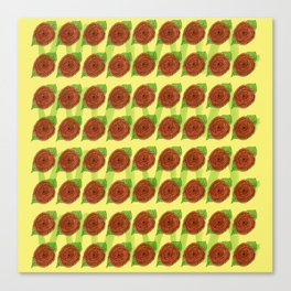 roses fields forever pattern floral Canvas Print
