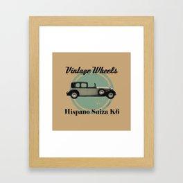 Vintage Wheels - Hispano Suiza K6 Framed Art Print