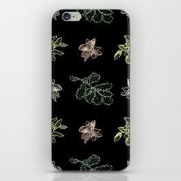 Quercus (black) iPhone Skin