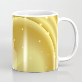 Gold abstract background with stars and particles. Coffee Mug