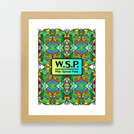 WSP - Wide Spread Panic - Psychedelic Pattern 1 Framed Art Print