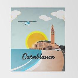 Casablanca Morocco Throw Blanket