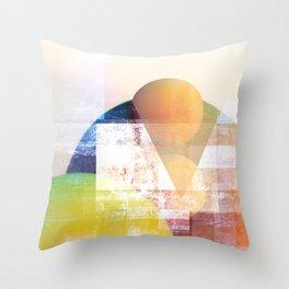 Peaches on Spitzbergen Throw Pillow