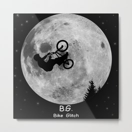 GTA Bike Glitch Metal Print