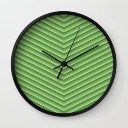Grassy Green Chevron Wall Clock