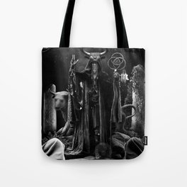 V. The Hierophant Tarot Card Illustration  Tote Bag