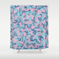 sylveon Shower Curtains featuring Sylvia by Leah Moloney