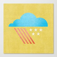 patriotic Canvas Prints featuring Patriotic Weather. by Nick Nelson