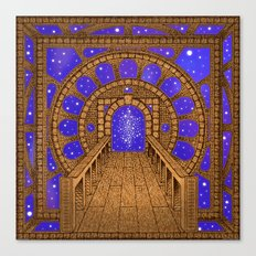 orvio illuminated space mandala Canvas Print