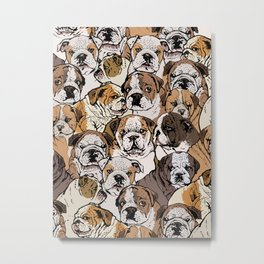 Social English Bulldog Metal Print