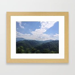 Smokey Mountains Framed Art Print