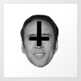 Nicolas Cage // FA$HION Art Print