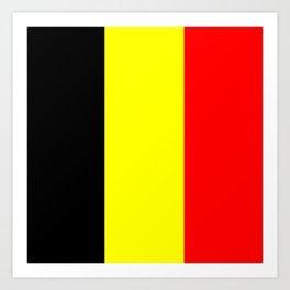 Drapeau Belgique Art Print