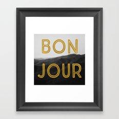 Bonjour (Mountains) Framed Art Print