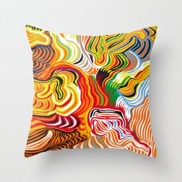 colored flow Throw Pillow