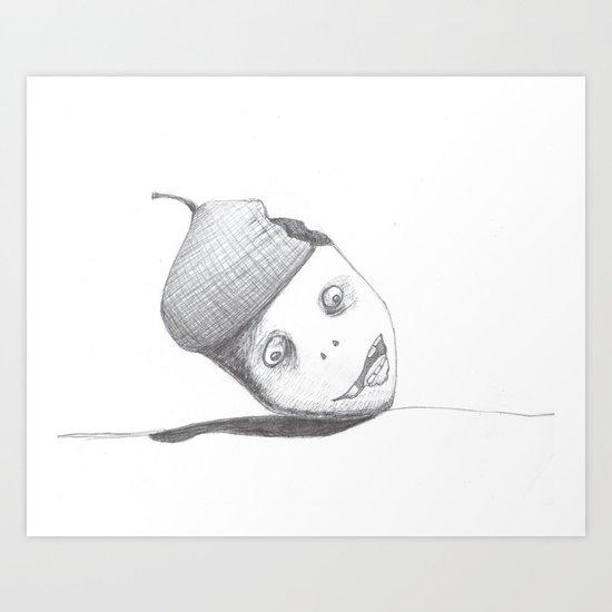 Zombie Acorn Art Print