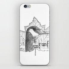 Canada Goose on Maple Leaf iPhone & iPod Skin