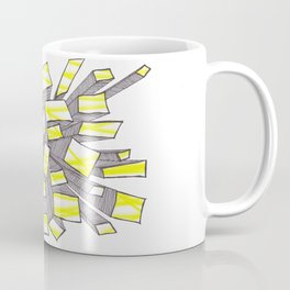 Yellow Fragmentation Coffee Mug