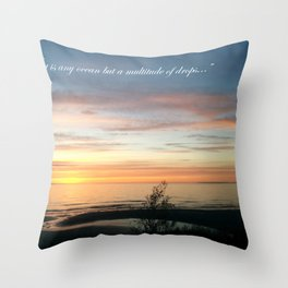 Multitude of Drops Throw Pillow