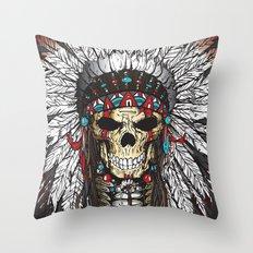 WAR BONNETT Throw Pillow