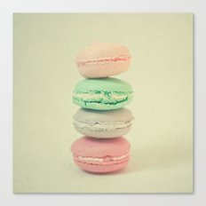 Four Macarons Canvas Print
