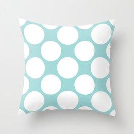 Polka Dots Blue Throw Pillow