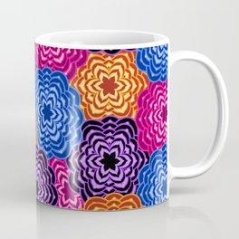Dahlia Rainbow Multicolored Floral Abstract Pattern Coffee Mug