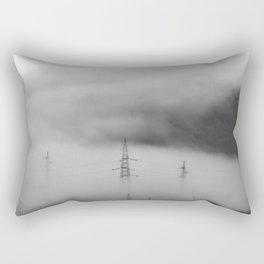 Fog over industrial city Rectangular Pillow