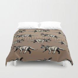ChocoPaleo: Anchiceratops Duvet Cover
