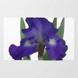 Stellar Lights, Deep blue-violet Iris Rug