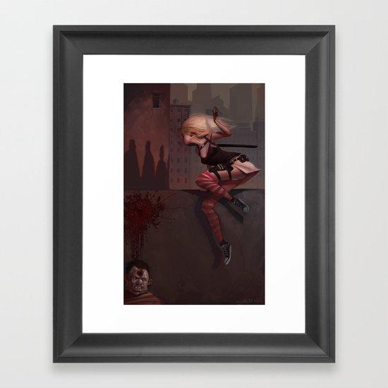Bambi the Zombie Slayer Framed Art Print